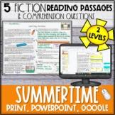 Summer Fiction Reading Passages