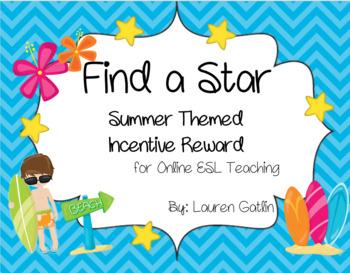 Summertime Find A Star Reward System for Online ESL Teaching