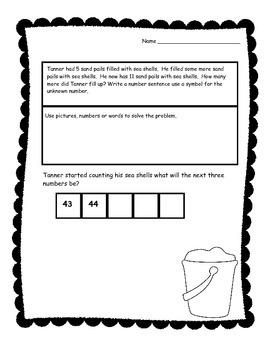 Summertime First Grade Math Review