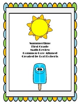 Summertime First Grade Math Review