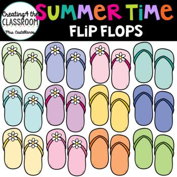 Summertime Flipflops Clip Art