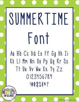 Summertime Font: Commercial License