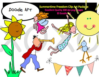 Summertime Freedom Clipart Pack
