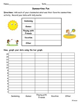 Summertime Fun Graphing Activity
