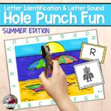 Summertime Fun- Letter and Sound Hole Punch Activity