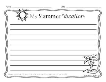 My Summer Vacation - Writing Activity {FREEBIE}