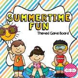 Summertime Fun (Summer themed Math game board)
