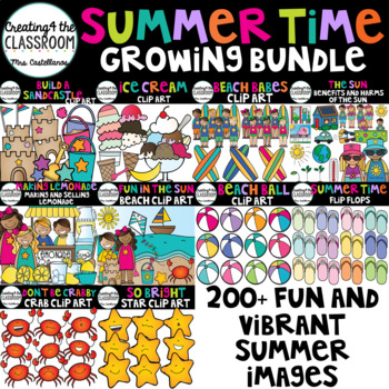 Summertime Growing Bundle {Summer Clip Art}