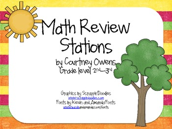 Summertime Math Review Stations
