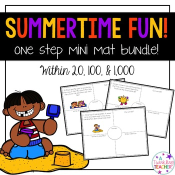 Summertime Mini Bundle: One Step Word Problems