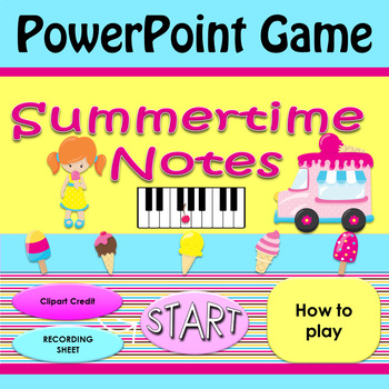 Summertime Notes PowerPoint Game