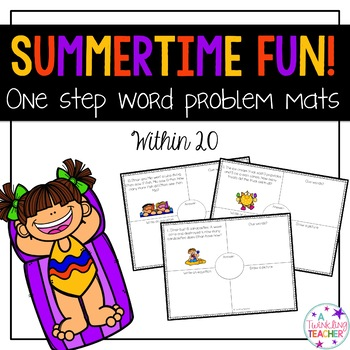 Summertime One Step Word Problems within 20!