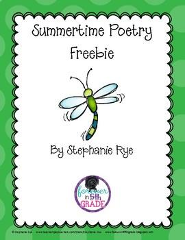 Summertime Poetry Freebie