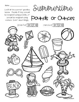 Summertime Pounds vs Ounces: Weight Measurement Practice