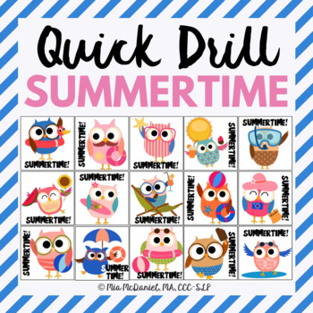 Quick Drill for Summertime {for speech therapy or any skill drill}
