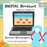 Summer Digital Breakout Escape Room Grades 3-5 (Google Slides)