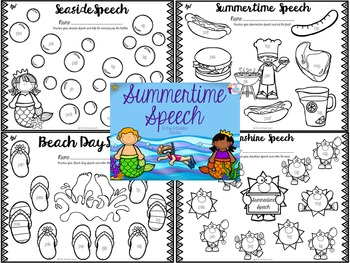 Summertime Speech: No-prep Articulation Activities