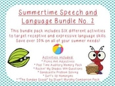 Summertime Speech and Language Bundle No. 2