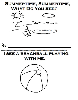 Summertime, Summertime What Do You See? Adapted Printable