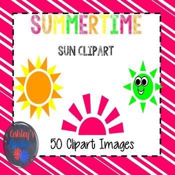 Summertime Sun Clipart
