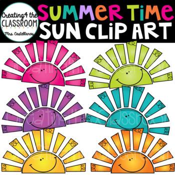 Summertime Sun Clip Art
