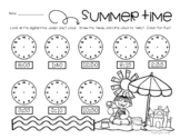 Summertime: Telling Analog Time (to the 5 Minutes)