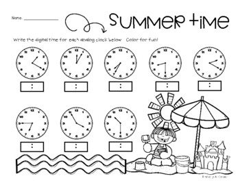 Summertime: Telling Digital Time (to the 5 Minutes)