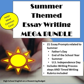Short Essays In English Summer Themed Essay Writing Mega Bundle W Rubrics  Printables The Yellow Wallpaper Character Analysis Essay also Great Gatsby Essay Thesis Summer Themed Essay Writing Mega Bundle W Rubrics  Printables By  Essay On Importance Of Good Health