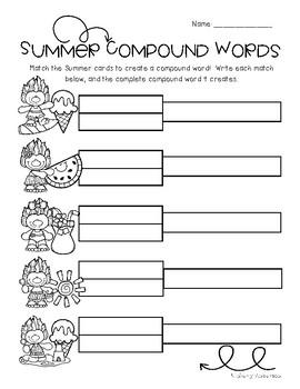 Summertime Trolls: Compound Word Match Center