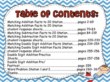 Summertime Waves of Addition, Subtraction, and Word Problems