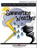 Summertime Weather  (5-day Unit) Preschool Pre-K Kindergarten Curriculum
