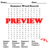 Summertime Word Search