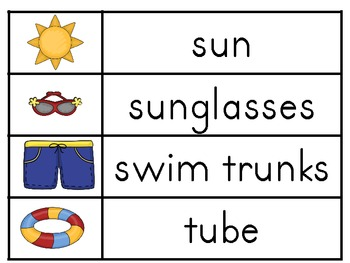 Summertime Word Wall Words