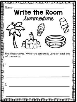 Summertime Write the Room