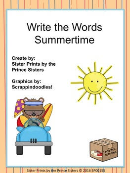 Summertime Write the Words