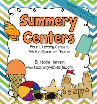 Summer-y Centers {Common Core Aligned}