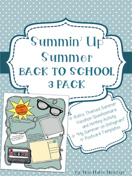 Back to School 3 Pack for Teens and Tweens - Summin' Up Summer