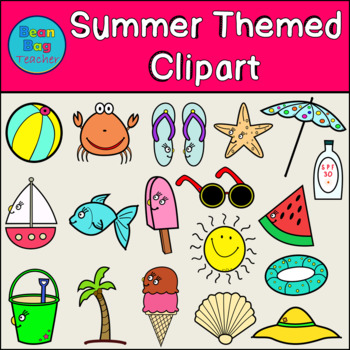 Summer Themed Clipart for Commercial Use | Simple Graphics