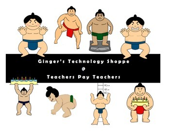 Sumo Wrestlers clip art * Japanese