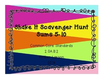 Sums 5-10 Scavenger Hunt