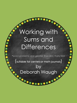 Interactive Math Journal Activities: sums, differences, and more!