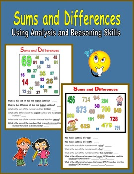 Sums and Differences (Using Analysis and Reasoning Skills)