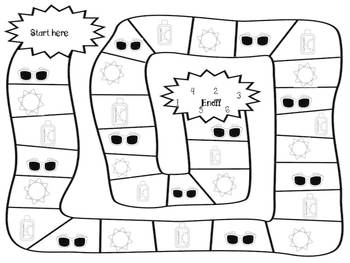 """""""Sums and Differences"""" of Summertime!  Fun printable math games"""