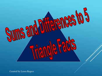 Sums and Differences to 5 Math Facts