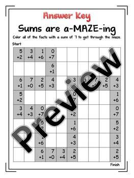 Sums are a-MAZE-ing