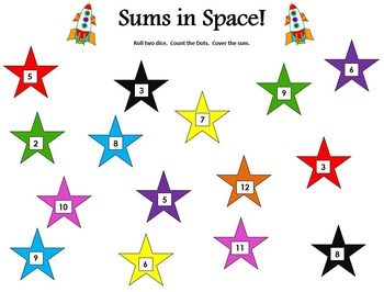 Sums in Space- Addition Game
