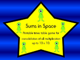 Sums in space: Multiplication board game.