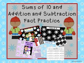 Sums of 10, Addition and Subtraction Math Games