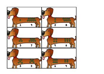 Sums of 10 - Dog Puzzles