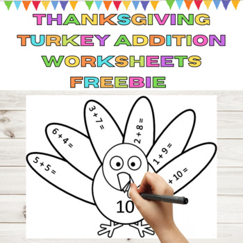 Sums of 10 Thanksgiving Addition Math Activity